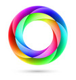 colorful spiral ring on white background vector image