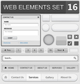 web elements set 16 vector image