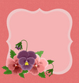 greetings card for mothers day vector image vector image
