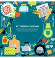 Kitchen home cooking concept poster vector image
