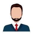 Executive businessman profile isolated icon vector image