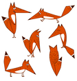 Orange Fox cute funny cartoon style options vector image