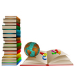 school books vector image