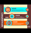 Set modern banners or template of infographics vector image