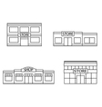 Set of store shopping mall icons vector image