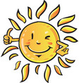 sun cartoon vector image
