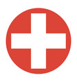symbol of medicine cross vector image