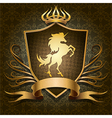 The unicorn shield vector image