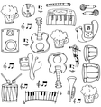 Doodle of music theme hand draw vector image