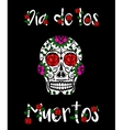 Sugar skull calavera Mexican day of dead vector image