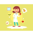 Cute woman nutritionist vector image