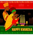 Happy Kwanzaa greetings for celebration of African vector image