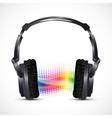 musical headphones vector image vector image
