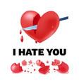unhappy love light template vector image