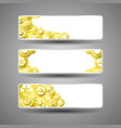 golden gear banners set vector image