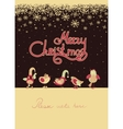 Cute birds celebrating Christmas vector image vector image