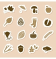 autumn icon labels vector image