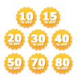 Yellow Stickers vector image