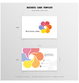 Abstract Creative Business Cards Design vector image