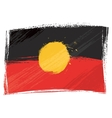 Grunge Aboriginal flag vector image