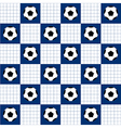Football Ball Blue White Chess Board Background vector image