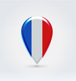 French icon point for map vector image