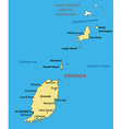 Grenada - map vector image