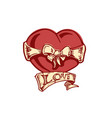 love you vector image