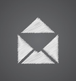 mail sketch logo doodle icon vector image