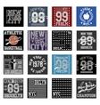 New york typography fashion set t-shirt vector image