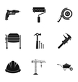 Repair tools icons set simple style vector image