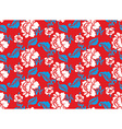 Russian national flower pattern Colors of Russia vector image