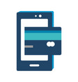 smartphone and credit card design vector image
