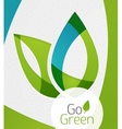 Green leaf icon concept vector image vector image