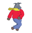 Donkey in winter clothes vector image vector image