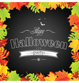 Halloween Frame With Leaves vector image