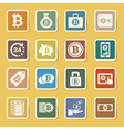 Bitcoin icons set vector image vector image