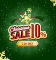 Christmas Sale 10 Percent typographic background vector image