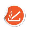 smoking ORANGE LABEL vector image vector image