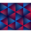 Regular colorful endless pattern with intertwine vector image