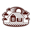 House detailed village idea Graphic countr vector image