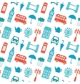 Seamless pattern with London symbols vector image