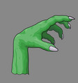 a zombie hand vector image