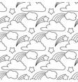 clouds stars rainbow seamless pattern cartoon vector image