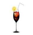 Cuba libra lemon alcohol cocktail vector image