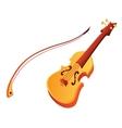 Funny cartoon violin vector image