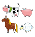 Funny farm animals vector image