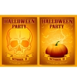 Halloween Party Backgrounds Set vector image