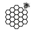 honeycomb and honey bee vector image
