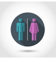Male and female flat icon vector image